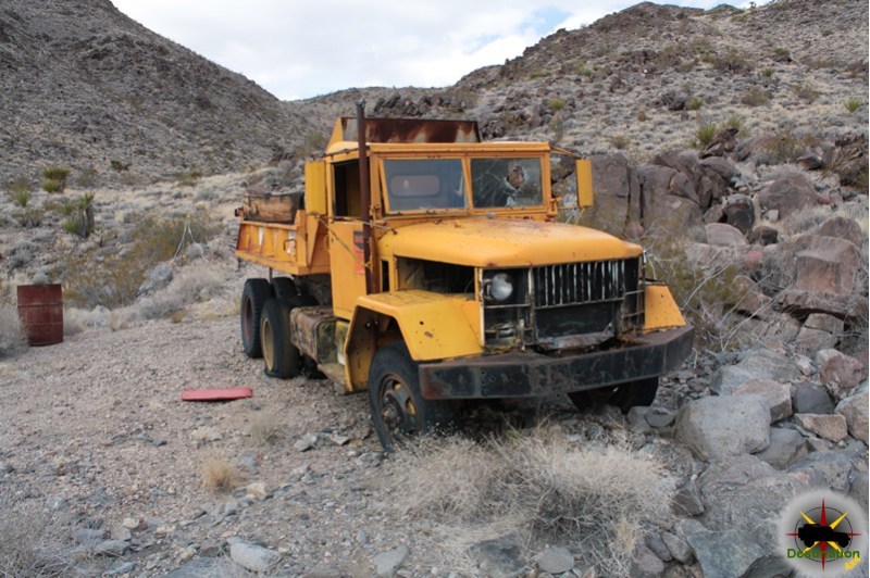 Lucy Grey gold mine - An old truck marks the trail up to the mine. Built rigs might be able to make it, but I choose to hike. Photo by James L Rathbun