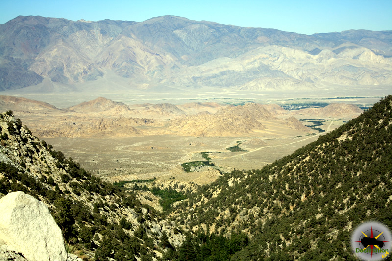 Looking down on the Alabama Hills and Owens Valley from Whitney Portal