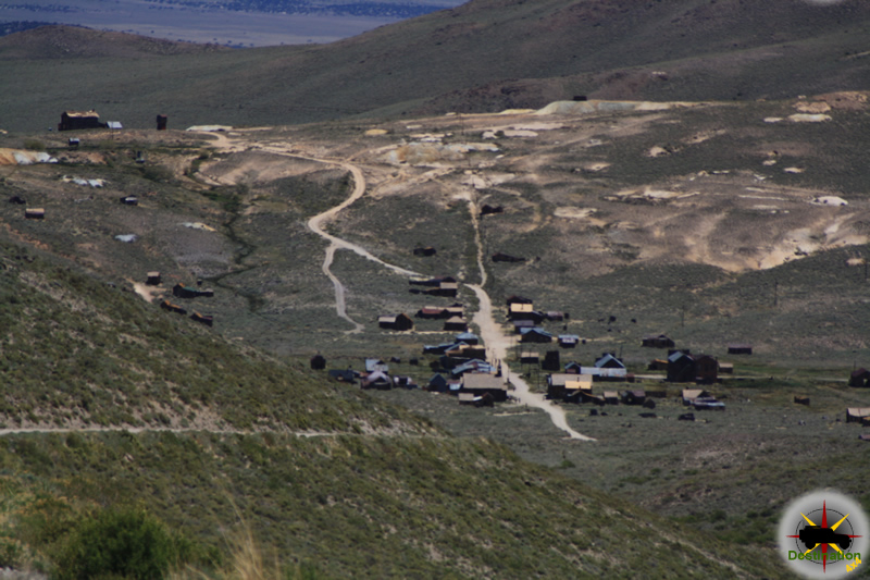 A wonderful view of Bodie is available to the travels en route to Masonic. Photography by James L Rathbun