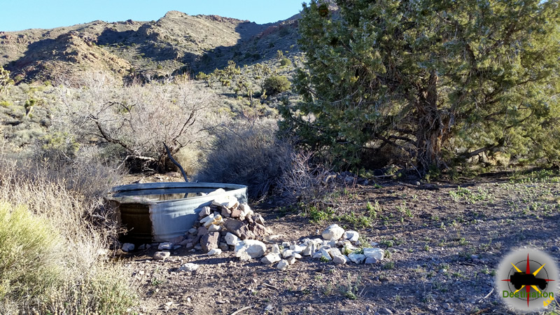 A live stock watering trough in the Mojave Desert.. Photograph by James L Rathbun