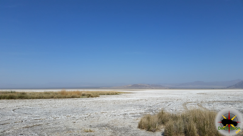 The dry soda lake located in the Mojave National Preserve and found next to Zzyzx Road offers a surreal view of the area.  Photograph by James L Rathbun