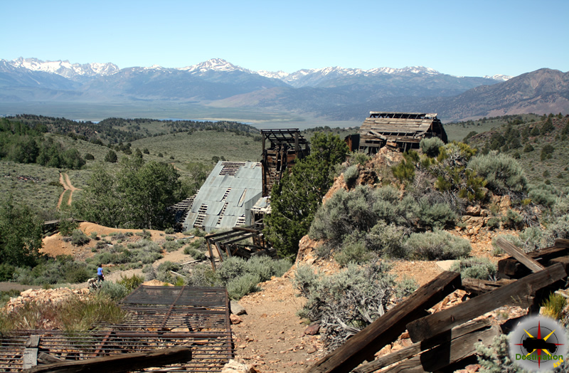 The Chemung gold mine over looking the Bridgeport Valley.. Photograph by James L Rathbun