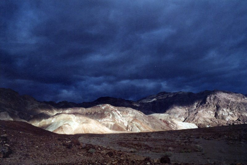 Thunderstorm in Death Valley California 4x4 Trails National Park