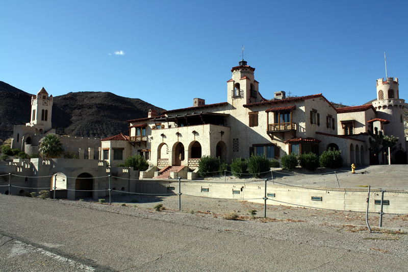 Scottys Castle is found in Grapevine Canyon