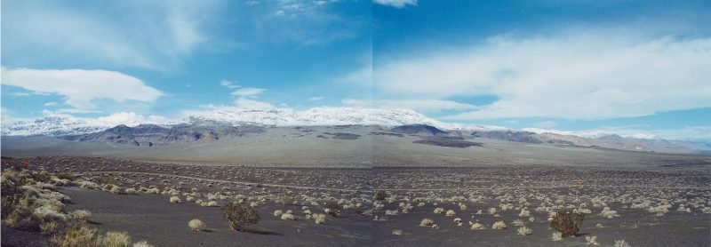 A Panorama looking from Ubehebe Crater overlooking the cinder fields, Death Valley National Park