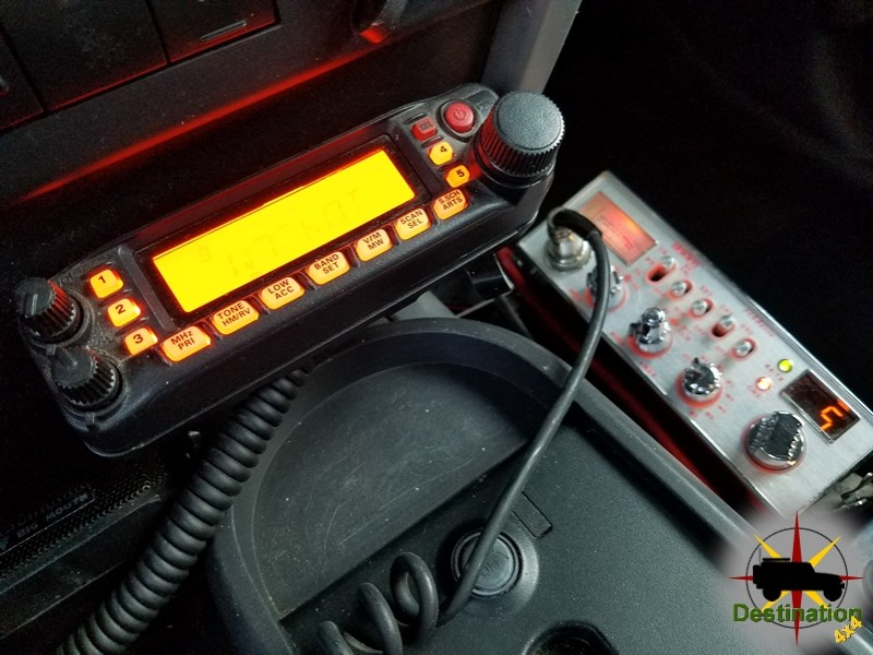 There is more than enough room in a 4x4 for two radios.  A CB and a 2M Ham radio.
