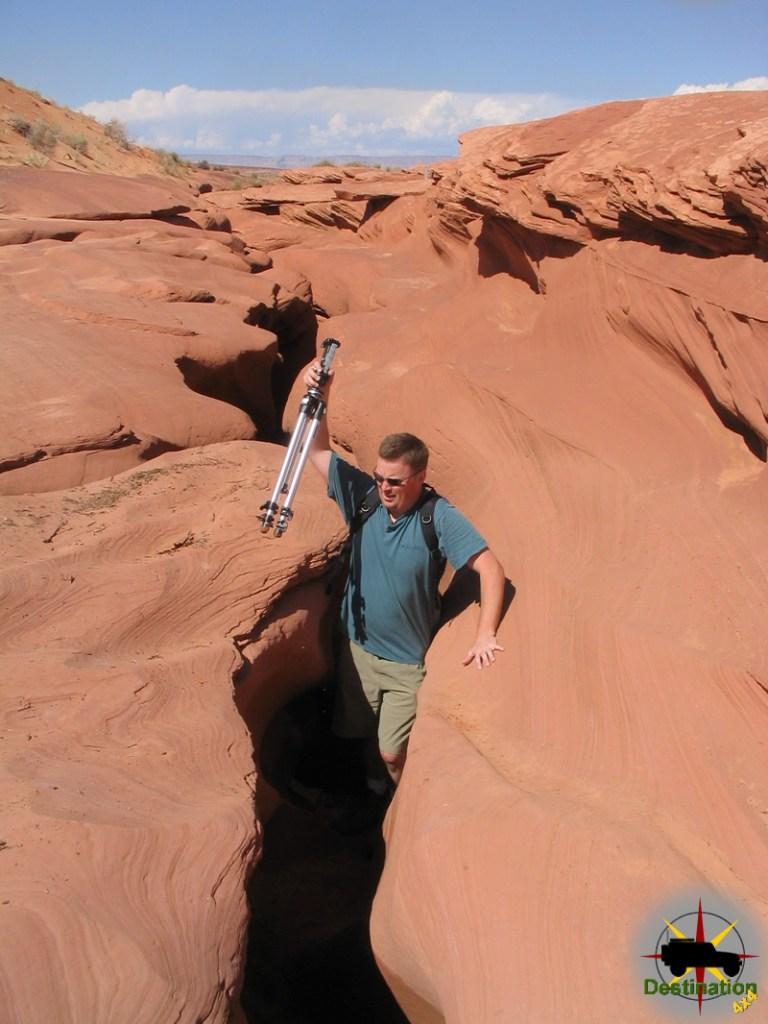 Entering Lower Antelope Canyon, Page, Arizona