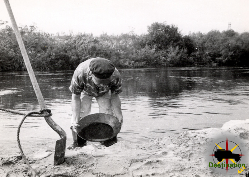 Charles H Duffy - Prospecting for gold at the unknown location in California
