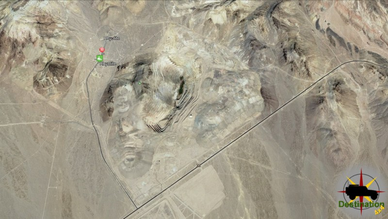 Rhyolite Ghost Town Map, Inyo County, Nevada