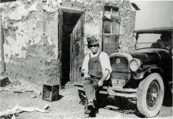 """Shorty"" Harris founder of Harrisburg, photographed in Ballarat, California"
