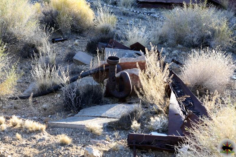 Old Plumbing remains in the town of Vanderbilt, CA