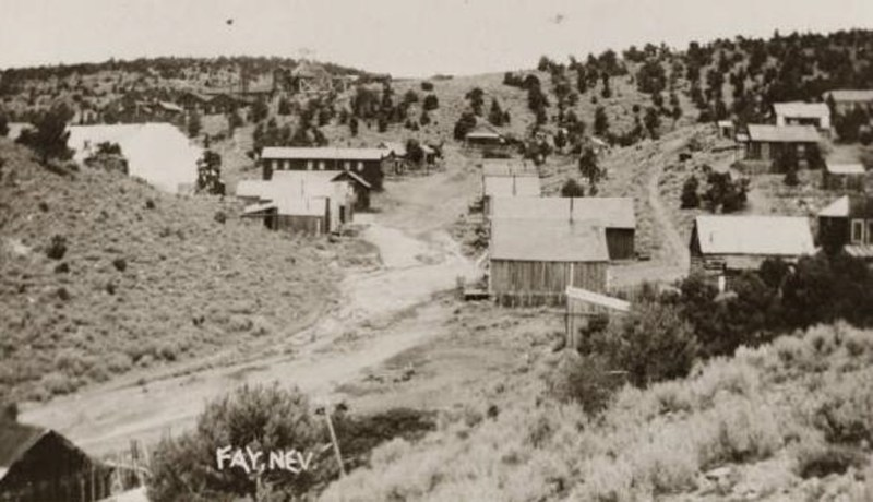 Fay Nevada - 1910 - The horseshoe mine  is visible on the hill