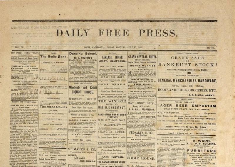 Daily Free Press - Bodie, California