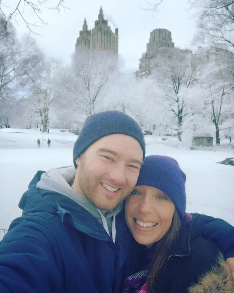All wrapped up in a snowy Central Park