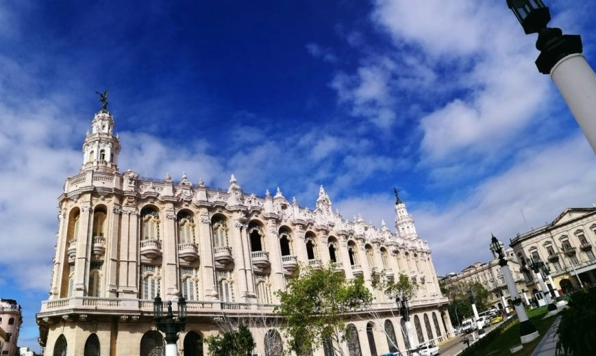 The Grand Teatro de la Habana, home to the famous Cuban Ballerina Alicia Alonso situated right next to the Capitolio in Havana