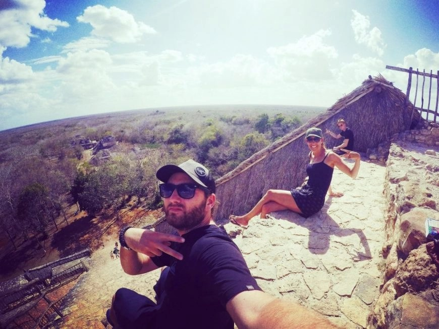 Destination Addict - Chilling together atop the ruins of Ek Balam, Mexico