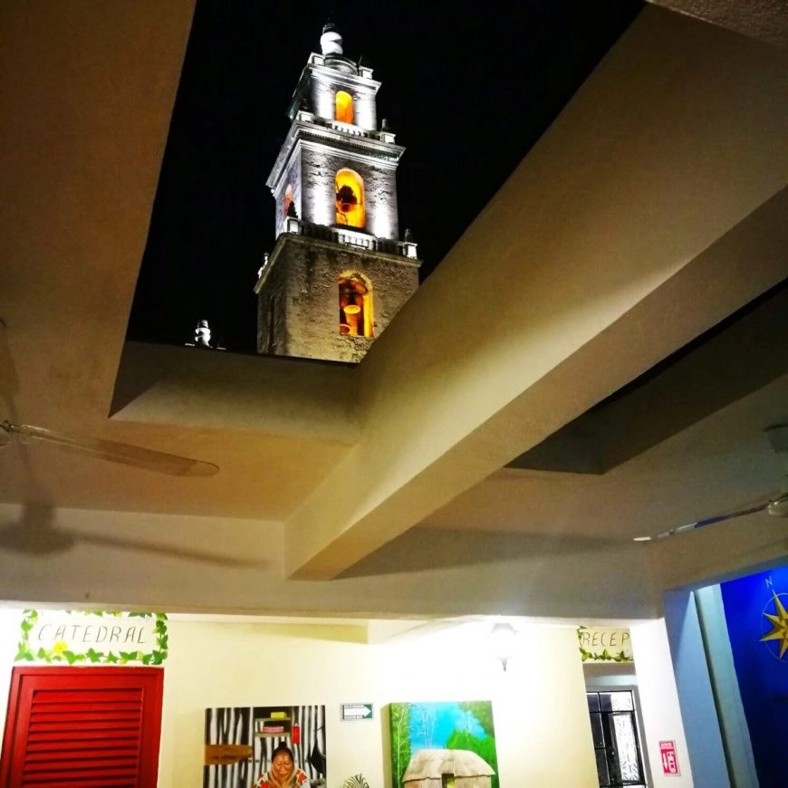 Destination Addict - The view right out of the roof of Hostal de Catedral, Merida