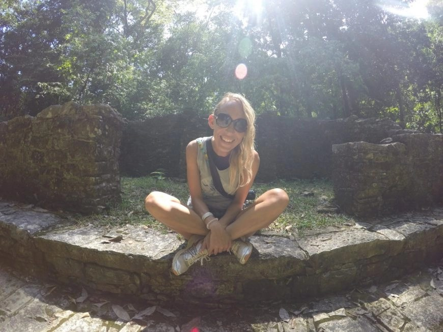 All smiles surrounded by jungle, howler monkeys & the magical Mayan ruins of Palenque
