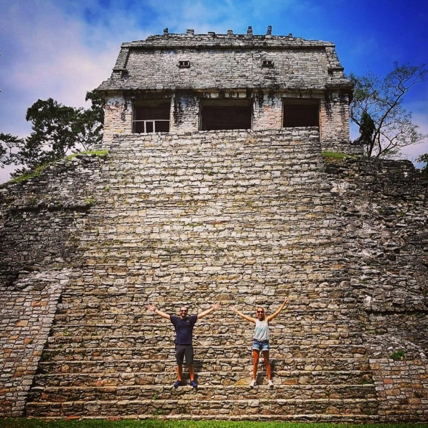 Destination Addict - Looking a little ant like at the Mayan ruins of Palenque, Mexico