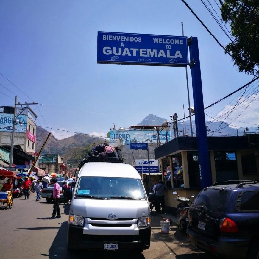 Destination Addict - Our Mexican Minivan parked up at the Ciudad Cuauhtemo/La Mesilla - Mexico/Guatemala border