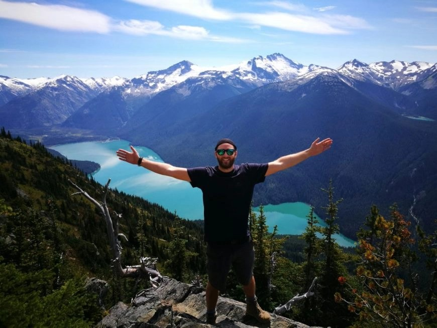 Destination Addict - Enjoying spectacular views above Cheakamus Lake, High Note Trail, Whistler, British Columbia, Canada