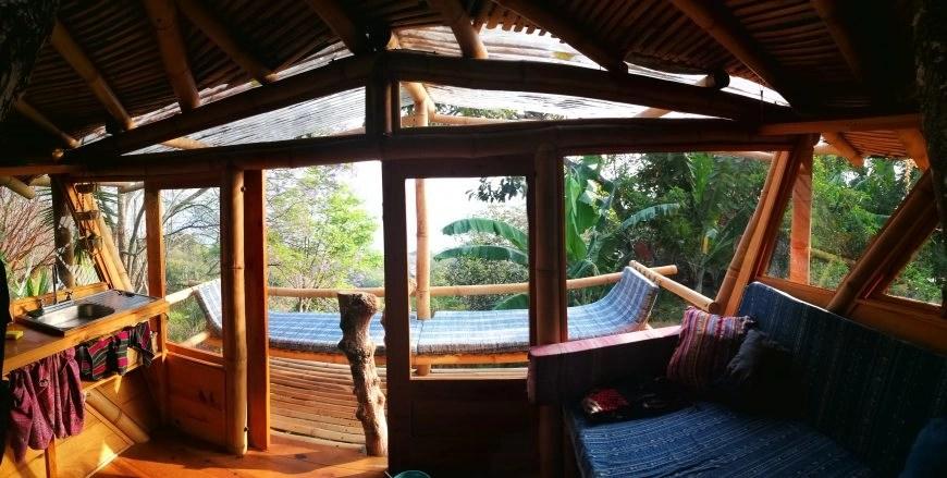 Destination Addict - The tree house living area, Lake Atitlan, Guatemala
