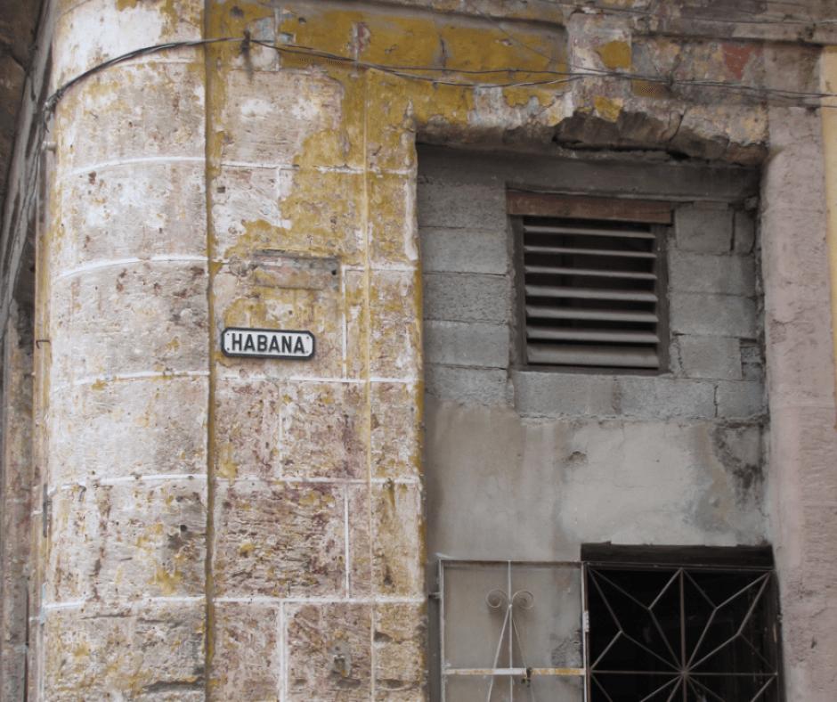 Destination Addict Crumbling old building, old Havana, Cuba