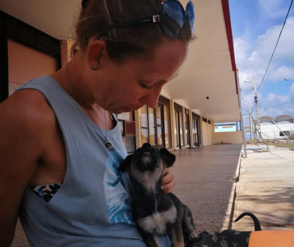 Destination Addict - Having cuddles with some very cute puppies, Playa Larga, Cuba