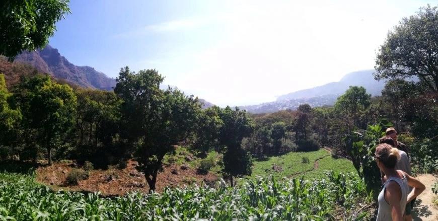 Just starting off on our Indian Nose hike & enjoying views near the village of San Juan, Lake Atitlan