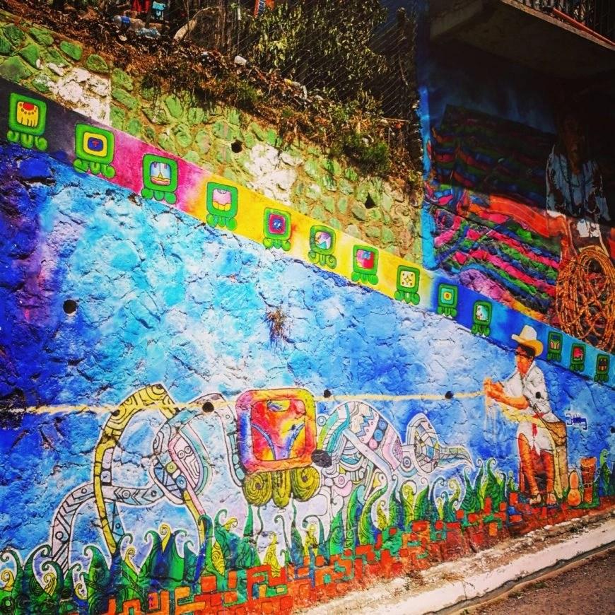 Some cool street art on the road from Santa Clara to San Marcos, Lake Atitlan, Guatemala