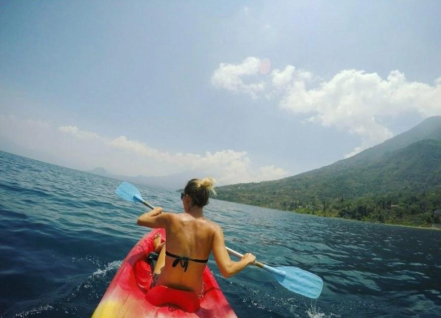 Destination Addict - Awesome kayak views on Lake Atitlan, Guatemala
