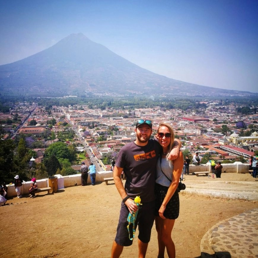 Destination Addict - Epic views from Cerro De La Cruz, Antigua, Guatemala