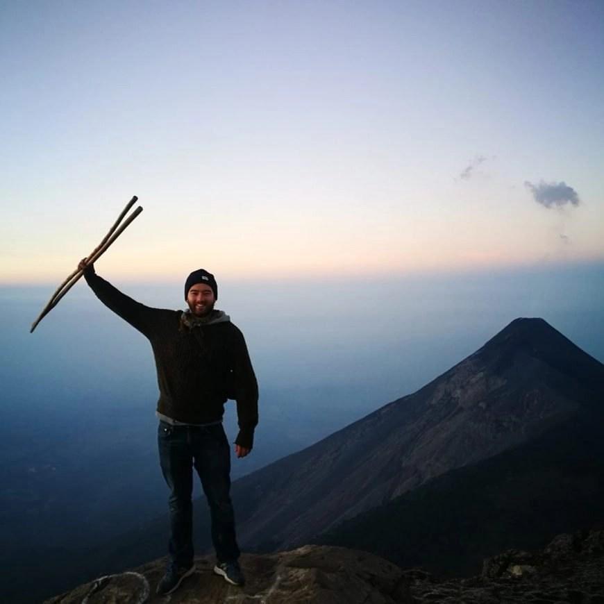 Destination Addict - Just taking it all in, Volcan de Acatenago hike, near Antigua, Guatemala