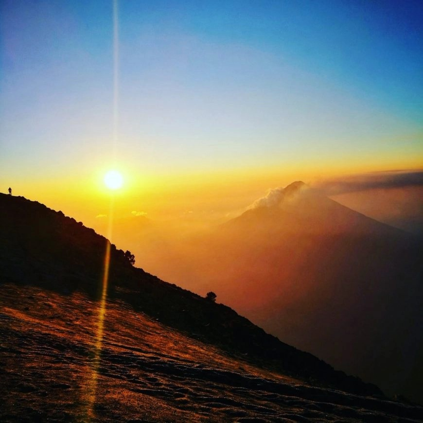Destination Addict - The most incredible sunrise, Volcan de Acatenango hike, near Antigua, Guatemala