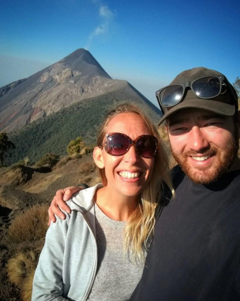 Destination Addict - All smiles after such an incredible experience, Volcan de Acatenango, near Antigua, Guatemala