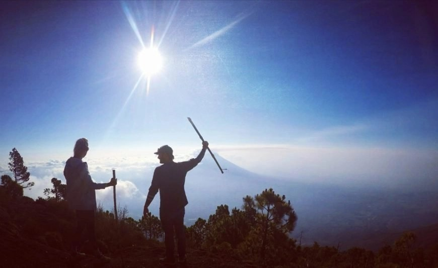 Destination Addict - On top of the world together, Volcan de Acatenango hike, near Antigua, Guatemala