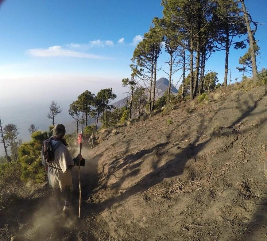 Destination Addict - Making our way back down, Volcan de Acatenango hike, near Antigua, Guatemala