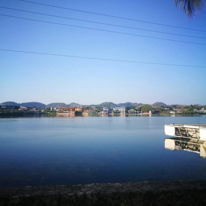 Destination Addict - Not a bad spot to wait for our bus, Flores, Guatemala