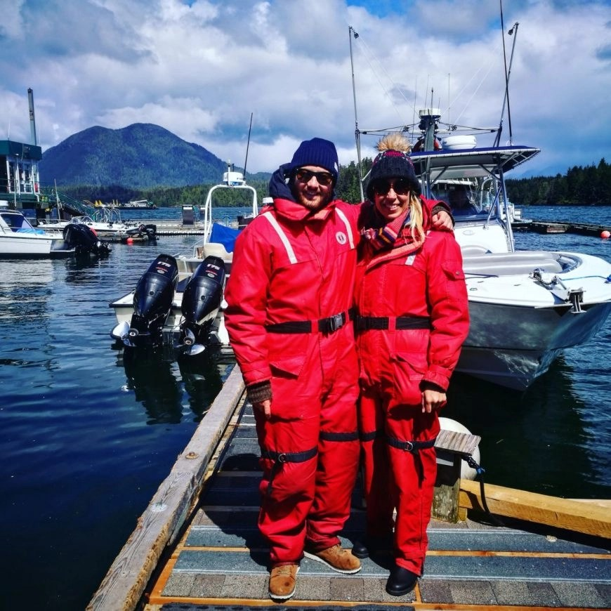 Destination Addict - All ready for our whale watching tour, Tofino, British Columbia, Canada