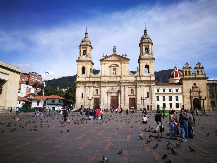 Hanging out at Plaza Bolivar, Bogota's main square - Things to do in Bogota