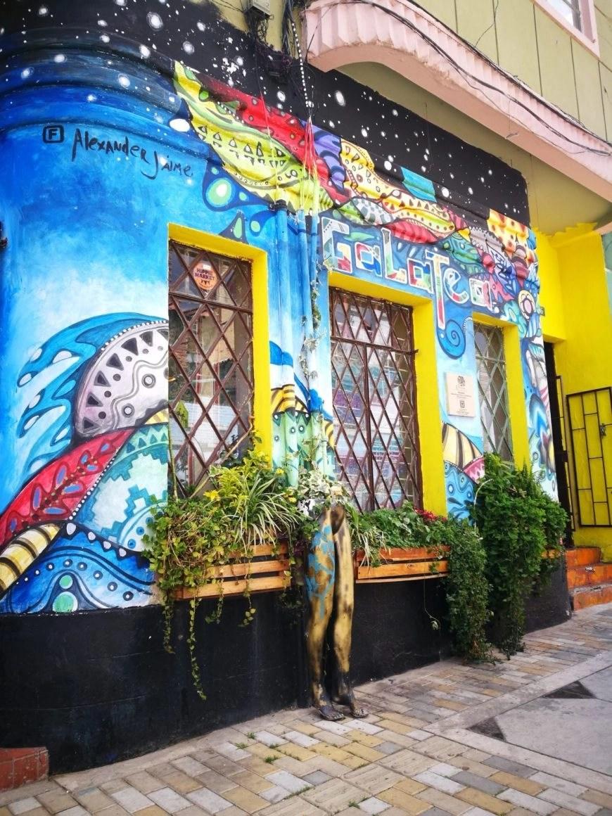 Destination Addict - A colourful & interesting piece complete with a creative plant pot! Bogota, Colombia