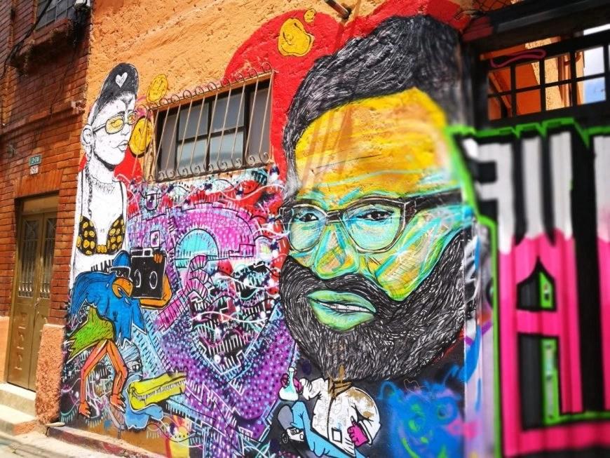 Destination Addict - A new street art piece in La Candelaria, Bogota, Colombia
