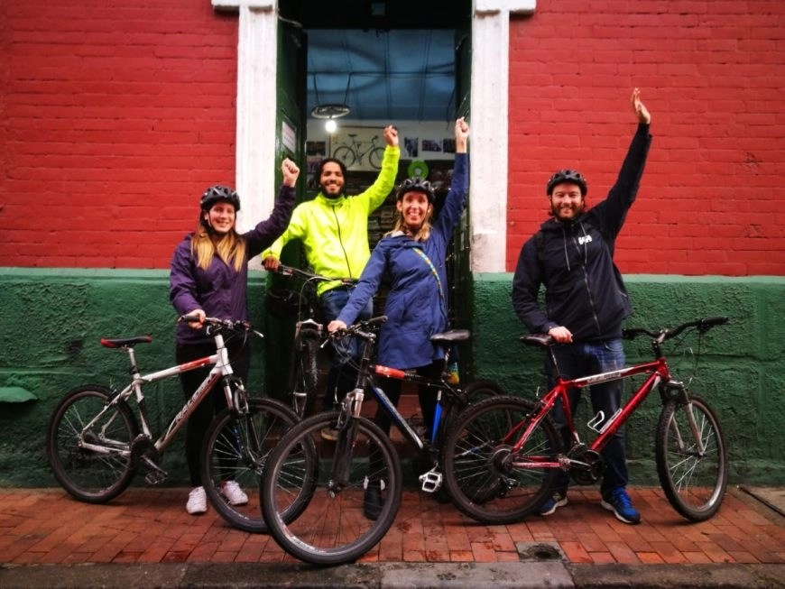 Destination Addict - Smiles at the end of our awesome tour with Bogota Bike Tours, Bogota, Colombia