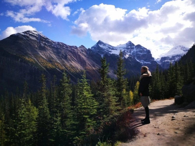 Destination Addict - Walking up to Agnes Tea House from Lake Louise, Alberta, Canada