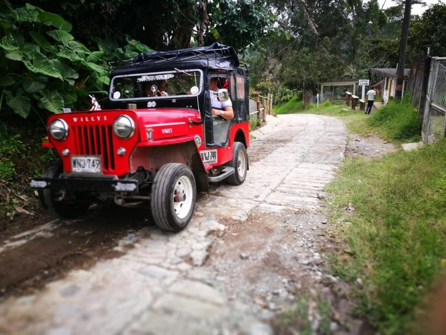 Destination Addict - A Willy's Jeep; the main form of transport in Salento, Colombia