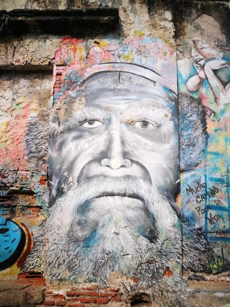 Destination Addict - Crumbling street art, Getsemani, Cartagena, Colombia