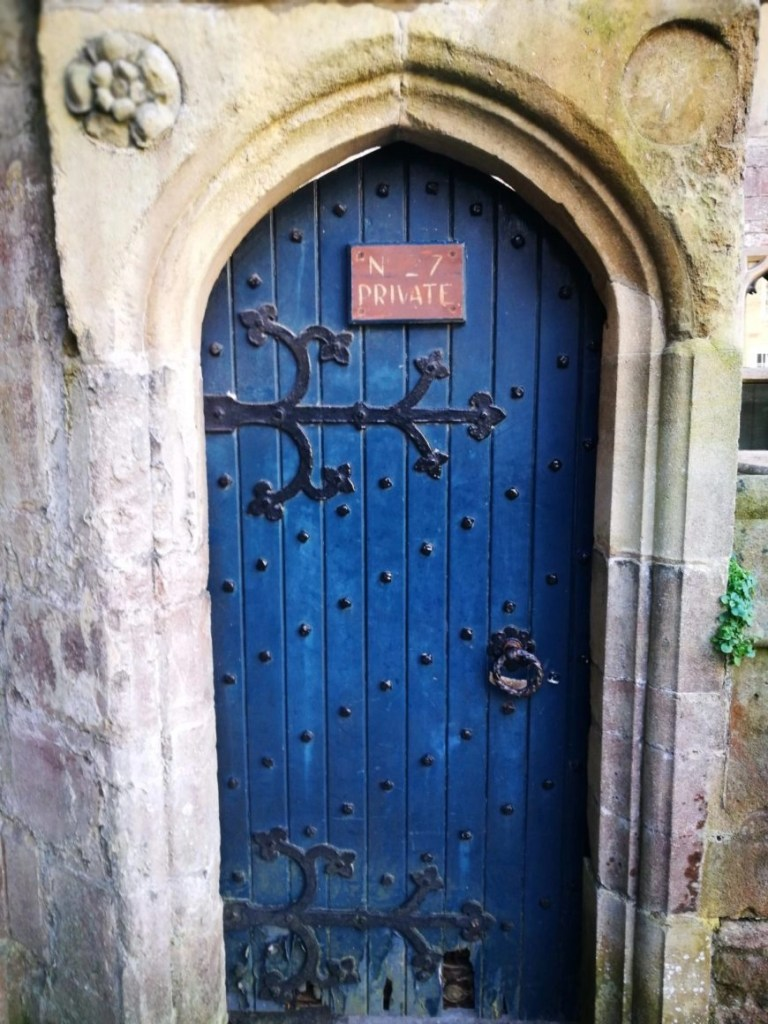 Swooning over the cute little doors, Wells - England's smallest city