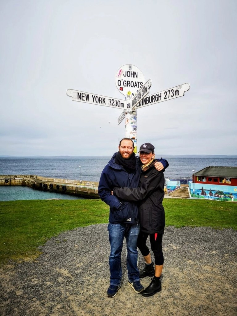 Obligatory pic at John O'Groats,  NC500 – An Epic Itinerary For Scotland's North Coast - Destination Addict