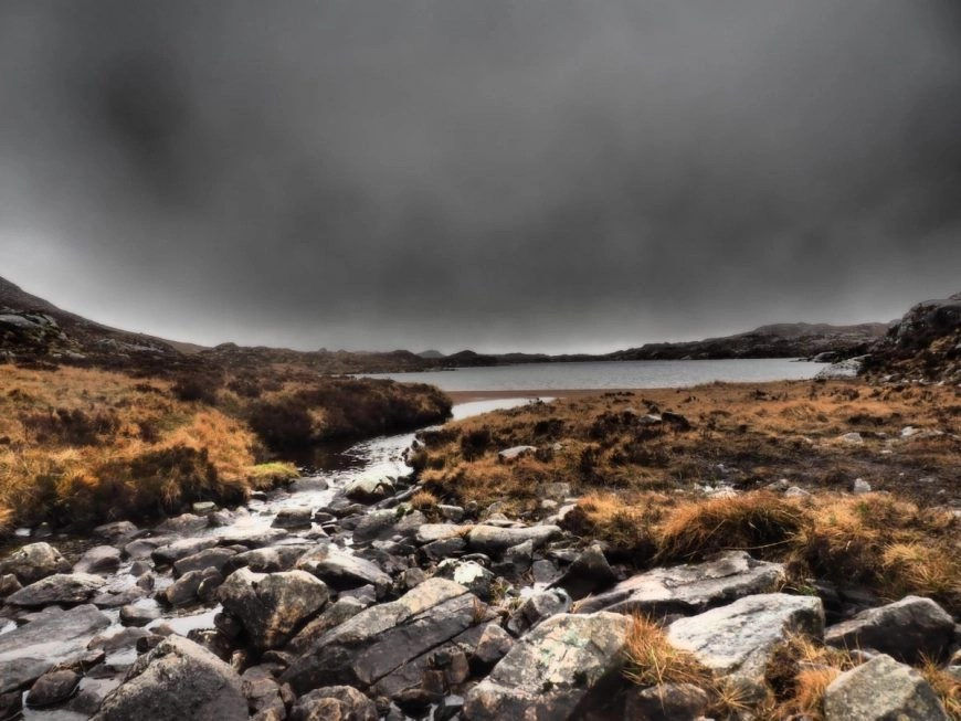 Moody views on our way up to Suliven, NC500 – An Epic Itinerary For Scotland's North Coast - Destination Addict