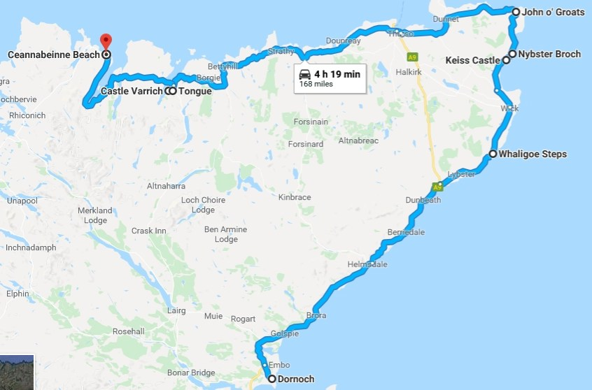 nc500 day two - our route & stops - Destination Addict